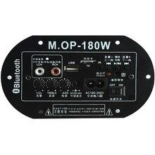 Cây Lau Nhà 180 AC220V 12V 24V Cao Cấp Bộ Khuếch Đại Kỹ Thuật Số Ban Bluetooth Siêu Trầm Amp Xe Nhà TF USB âm Thanh RCA Amplificador