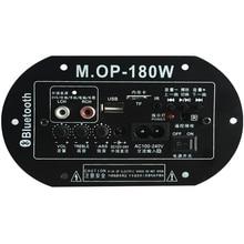 MOP 180 AC220V 12 فولت 24 فولت عالية الطاقة مضخم رقمي مجلس بلوتوث مضخم صوت أمبير سيارة المنزل TF USB RCA الصوت مكبر الصوت