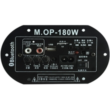 MOP 180 AC220V 12V 24Vดิจิตอลแอมพลิฟายเออร์บลูทูธซับวูฟเฟอร์Ampรถบ้านTF USB RCA Audio Amplificador