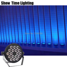 New Arrival Flat 18Pcs 10W RGBW 4 IN 1 Aluminum Led Par Light Professional Cans Good Use For Disco DJ Night Club Party