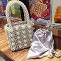 Женская сумка-тоут из акрила с жемчужными бусинами  прозрачная коробка  вечерние маленькие винтажные вечерние сумки  роскошная брендовая д...