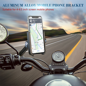 Motorcycle Handlebar Bike Mobile Cell Phone Mount Holder Support Bicycle Phone Stand For 4-6.5 inches For Samsung Huawei Xiaomi
