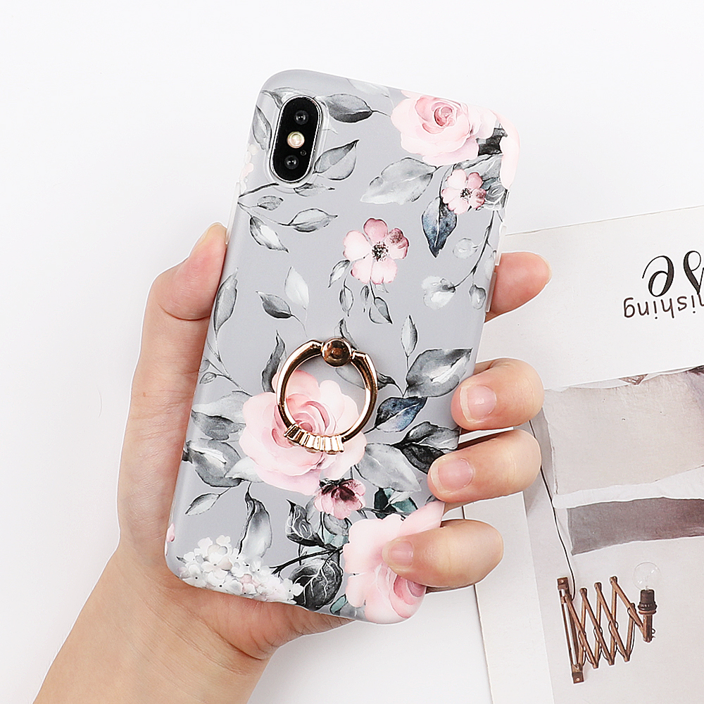 LOVECOM Beautiful Flower Phone Cases For iPhone 11 Pro Max XS Max XR XS X 6 6S 7 8 Plus Soft IMD Phone Back Cover Gift For Lover