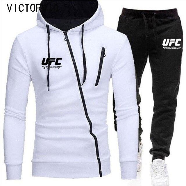 VICTORWID, Men's New Sportswear Sweatshirt + Casual Harajuku Pants Sportswear Fashion Zipper Jacket Sportswear, Plus Size 4XL