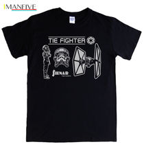 TIE FIGHTER T-shirt S- 5XL Star Wars pilot imperial darkside vader rogue one 1 Free shipping  Harajuku Classic Unique