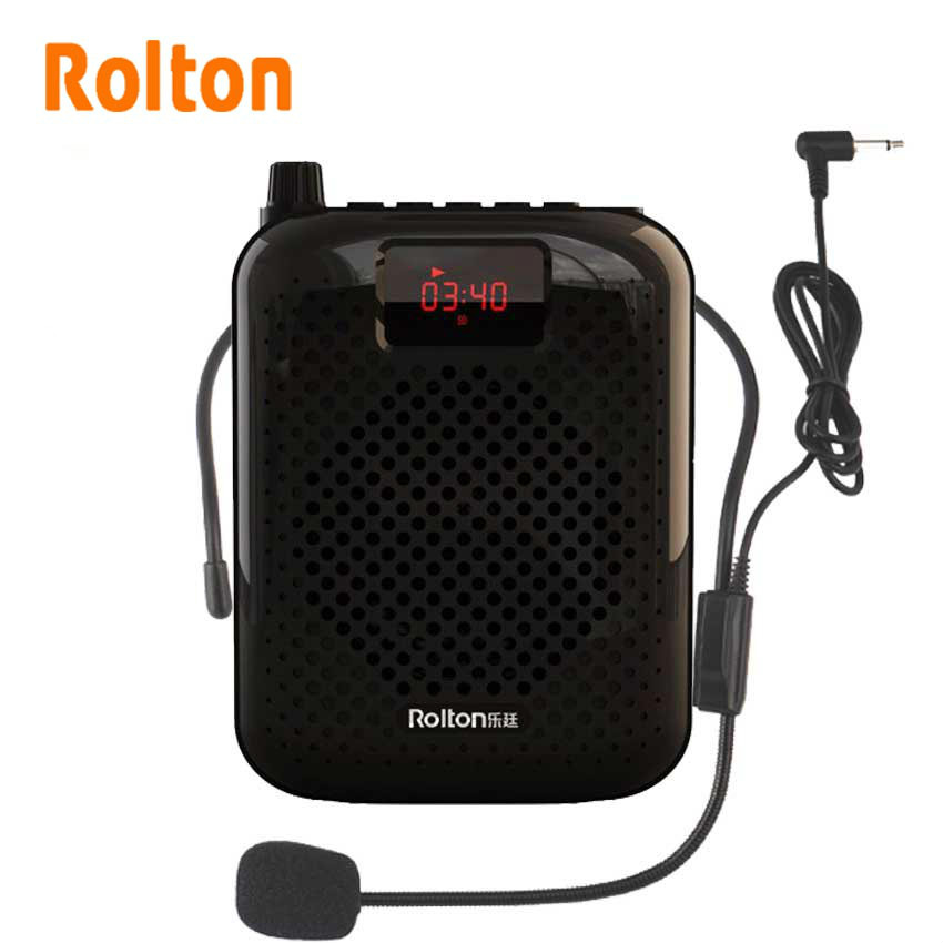 Rolton K500 Portable Bluetooth Speaker Microphone Voice Amplifier Booster Megaphone Speaker For Sales Promotion Teaching Guide