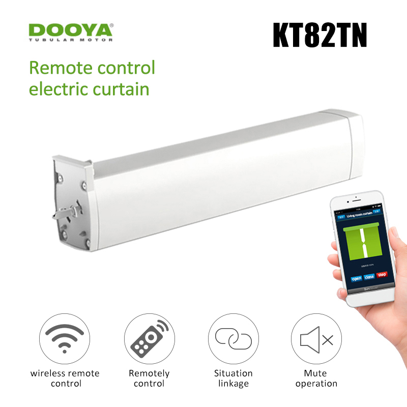 Wifi Smart Curtain Motor For Smart Home Automatic Dooya KT82TN DC Electric Curtain Motor Built AC 100-240V Transformer Dropship