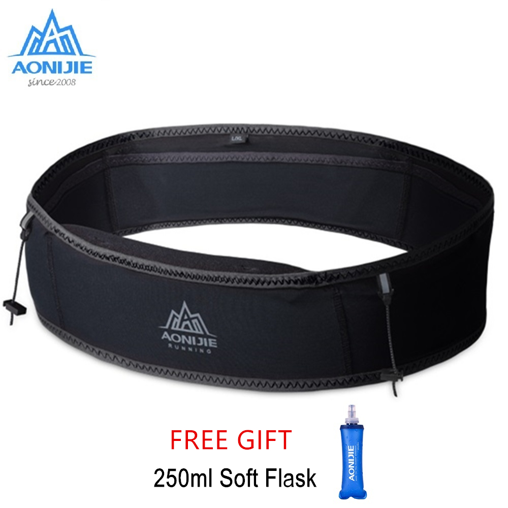 AONIJIE W938S Running Waist Bag Men Women Gym Sports Fanny Bags Trail Running Belt Invisible Fanny Waist Pack Marathon Bag