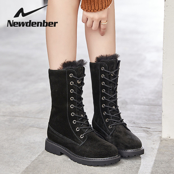 Women Winter Fur Warm Snow Boots Ladies Warm wool booties Mid-Calf Boot Comfortable Shoes plus size Casual Women Mid Boots wealthy women shoes winter fur warm snow boots ladies flock warm middle booties solid high heel martin boot casual ankle boots