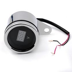 12V Motorcycle LED Digital Voltmeter Voltage Meter Gauge Vintage Style