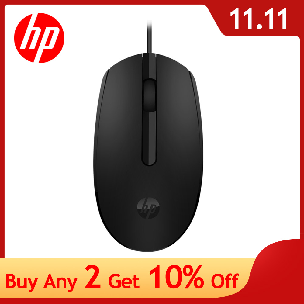 HP M10 Portable Ergonomic Design Computer Mouse Wired Usb Business Office Mouse Matte Texture Mini Mouse  For Computer Laptop