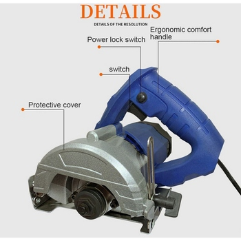 1.15KW 30mm Cutting Depth Circular Saw Multifunctional For l Stone Glass Plastic 220v Eye Protection Cover Power ToolWood Meta