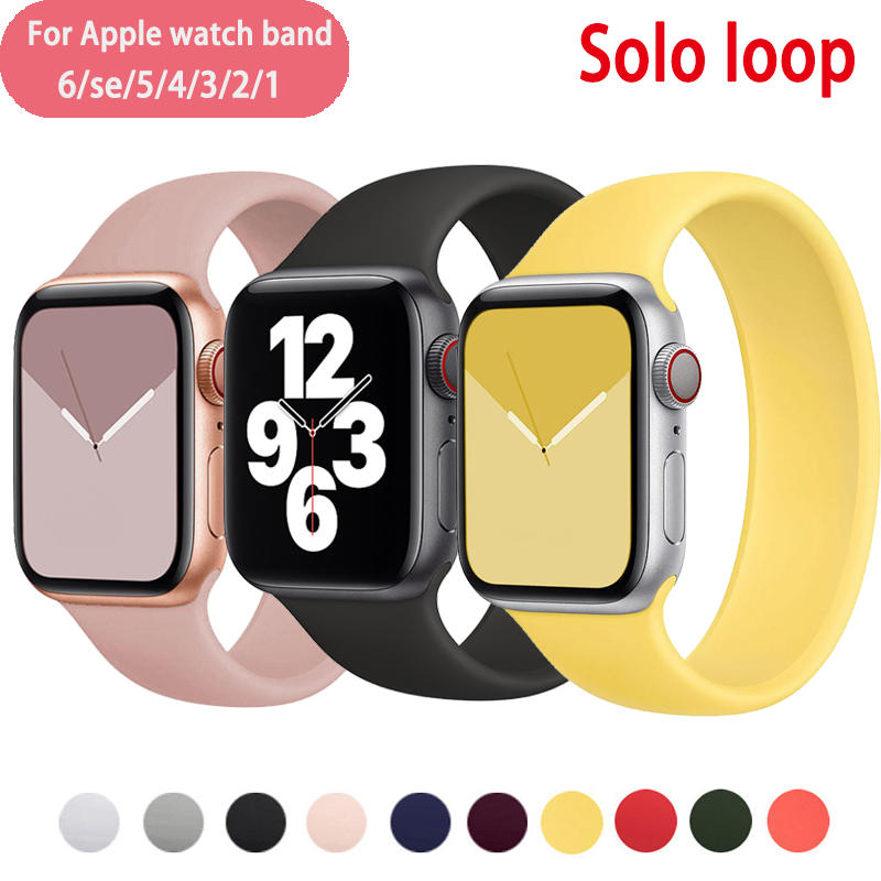 Strap for Apple Watch6 SE 5 Band 44mm 40mm for Iwatch Bands 38mm 42mm Belt Solo Loop
