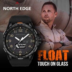 Image 4 - NORTHEDGEผู้ชายนาฬิกาดิจิตอลทหาร 50Mกันน้ำกีฬาHeart Rate Monitorบลูทูธสายรัดข้อมือ