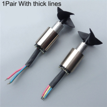 1Pair High Power Underwater Thruster 300W Brushless Motor  Propeller CW CCW with 5mm Shaft Parts for RC Tug Boat Model
