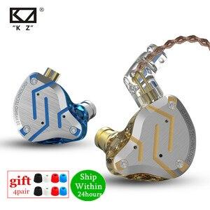 Image 1 - KZ ZS10 PRO 1DD 4BA HIFI cuffie In metallo ibrido In Ear auricolare Sport cuffie con cancellazione del rumore ZSN PRO ZST AS12 AS16 ES4 V80 T2 S2
