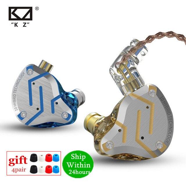 KZ ZS10 PRO 1DD 4BA HIFI cuffie In metallo ibrido In Ear auricolare Sport cuffie con cancellazione del rumore ZSN PRO ZST AS12 AS16 ES4 V80 T2 S2