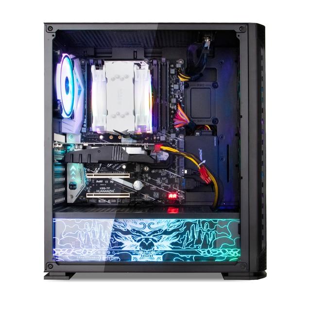 HUANANZHI X99 TF Z6 Gaming E5 Desktop Computer cpu E5 2678 V3 DDR4 4*8G Gaming Card GTX 1050TI 4G SSD 240G High cost performance 5
