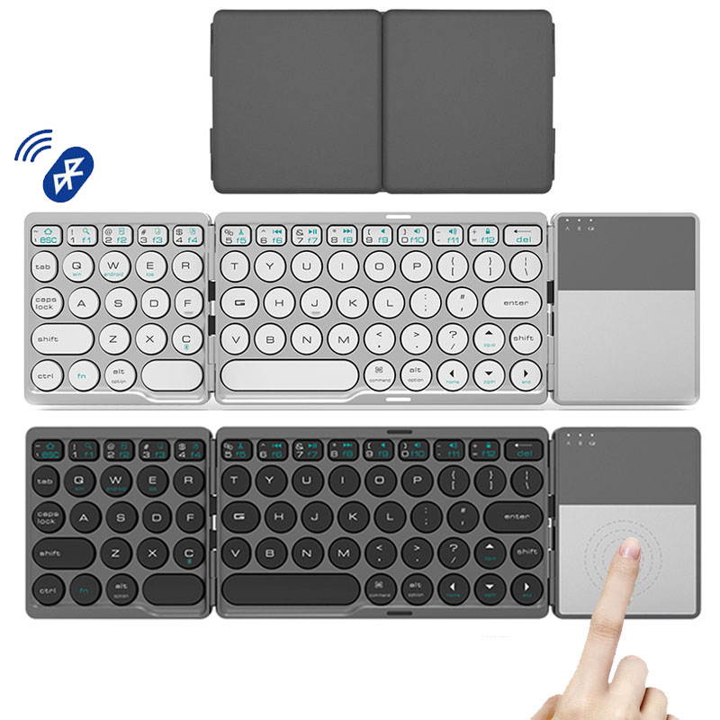 Foldable Bluetooth Keyboard With Touchpad Rechargeable Wireless Mode For Ipad Tablet Macbook IOS Android Window Phone|Keyboards| - AliExpress