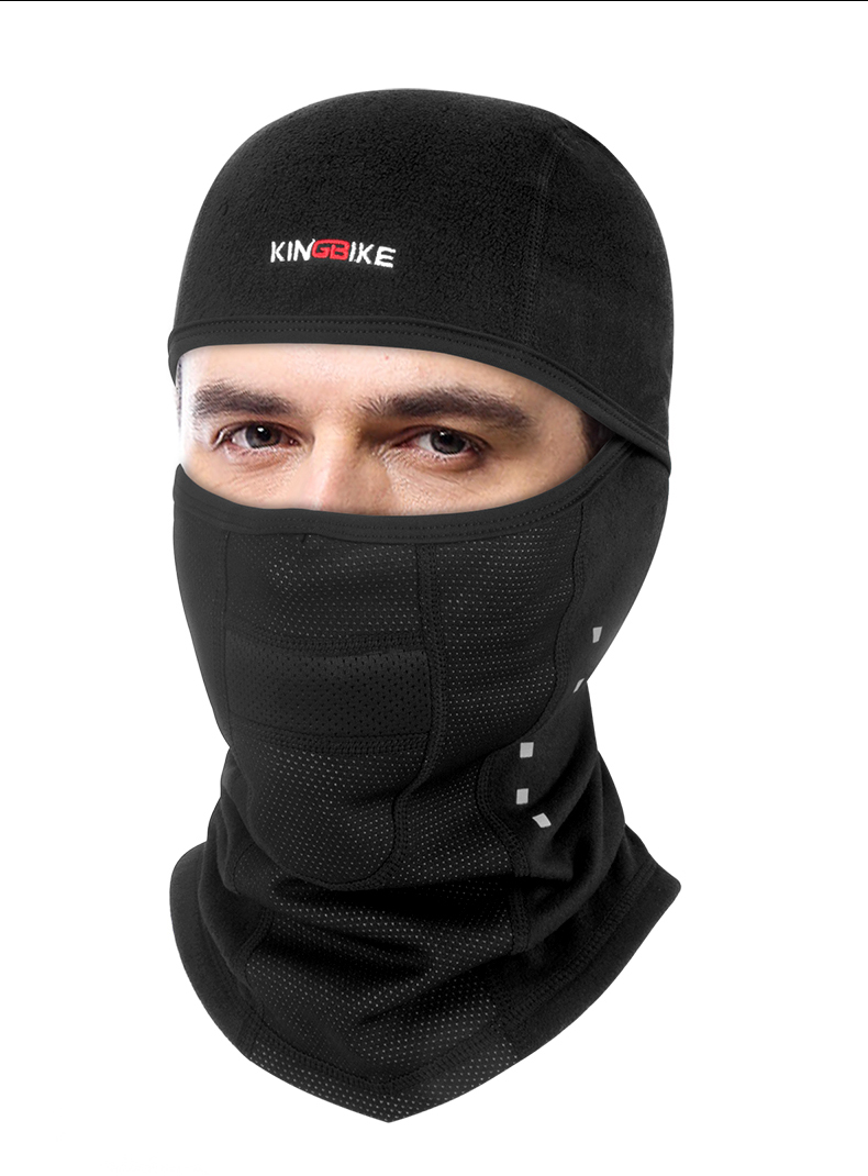 KINGBIKE Winter Thermal Warm Breathable Full Face Mask Outdoor Bicycle Headgear Dust proof Windproof Mutil Ways wearing Scraf Cycling Face Mask     - title=