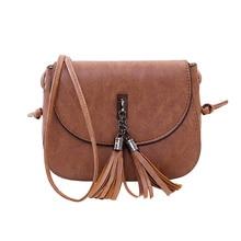 цена на Women Messenger Bag PU Leather Tassels Handbags Phone Pouch Shoulder CrossBody Bags Best Sale-WT