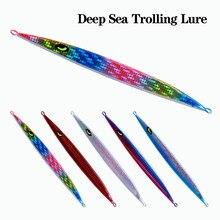150g 200g 250g 300g powolne Pitch Jigging przynęty ołowiu ryby przynęty głębinowe Luminous Metal Jig łyżka sztuczne przynęty Trolling przynęty