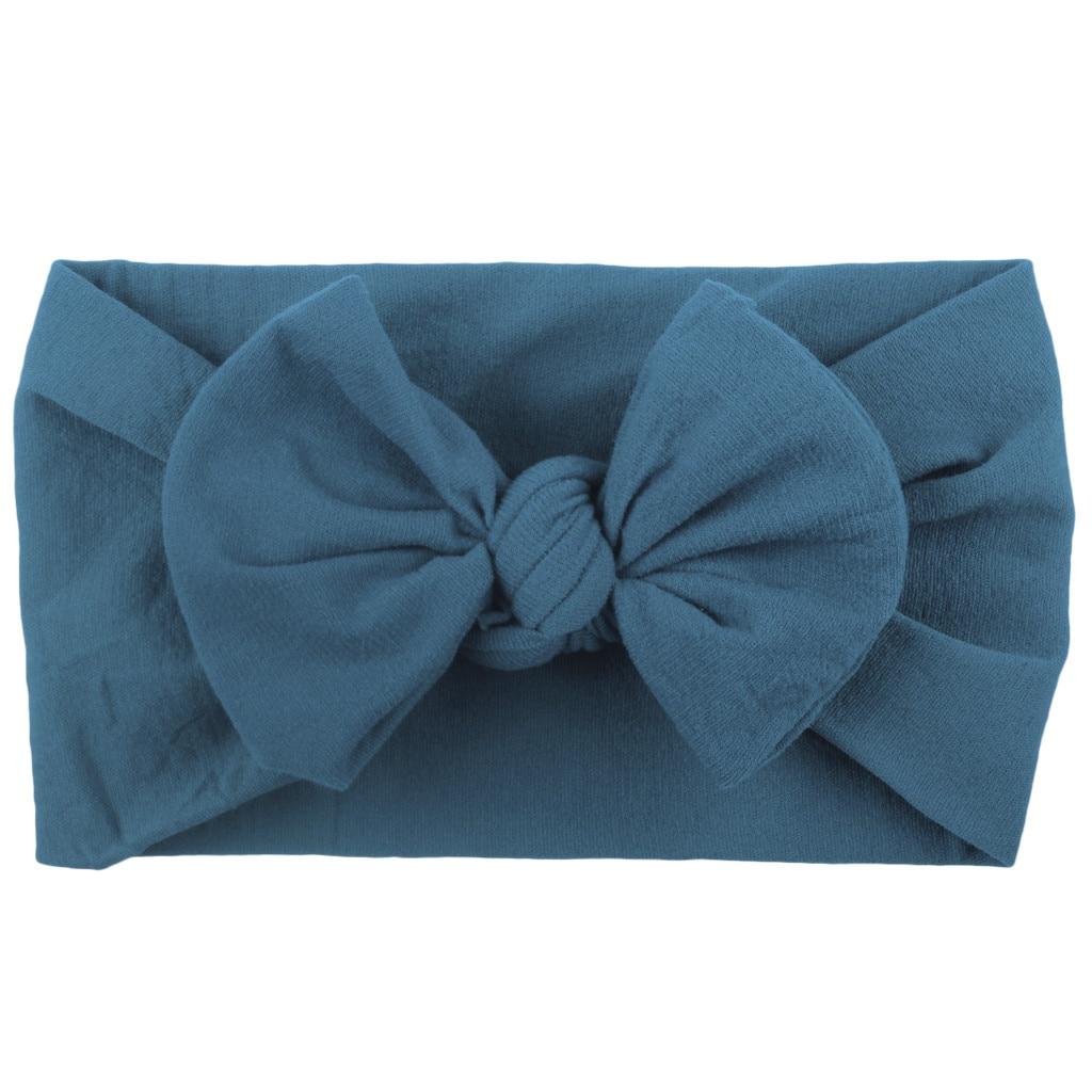 Новая Милая повязка для новорожденных девочек, малышей, тюрбан, твердые резинки для волос, бант, аксессуары для волос, головные уборы, аксесс...