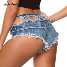 Low waist Sexy Women's denim shorts 2019 Summer de