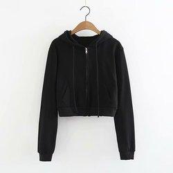 2020 18 frühling und herbst Europäischen und Amerikanischen stil mode wilden kurzen abschnitt offen nabelschnur zipper strickjacke pullover weibliche