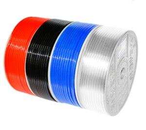 Image 2 - 40 м Пневматические черный транспорта OD 4/6/8/10/12/14/16 мм ID 2,5/4/5/6.5/8/10/12 мм красные, синие труба из ПУ воздушный шланг фильтр