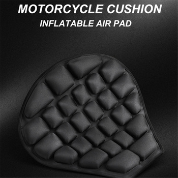 Motorcycle Seat Cushion Pressure Relief Inflatable Pad Motorbike Breathable Sunscreen Mat