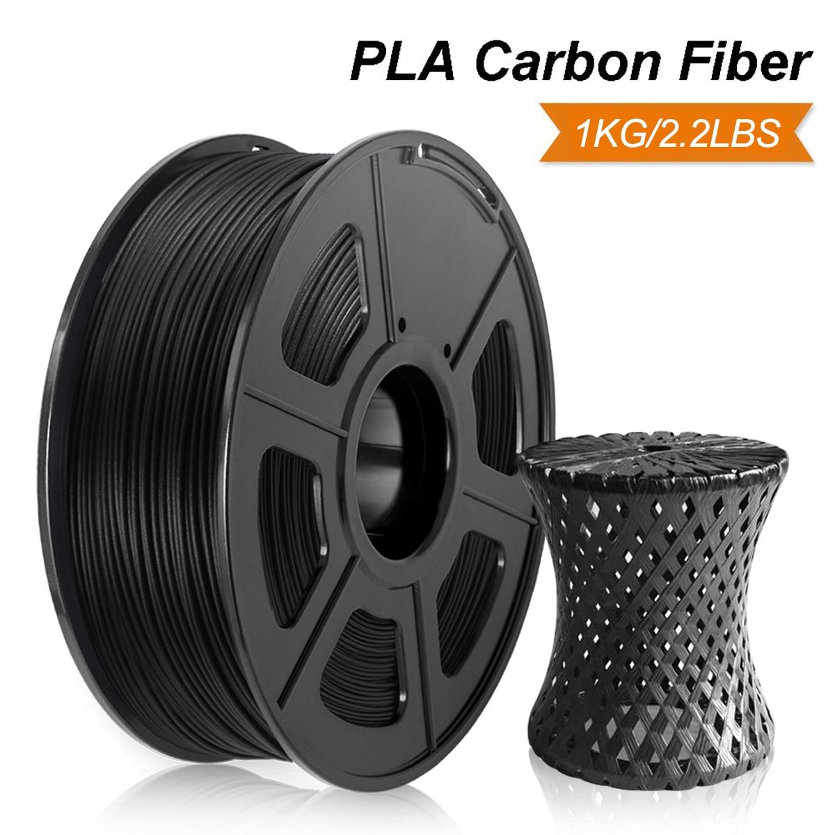 Нить для 3D принтера SUNLU 1,75 мм PLA Carbon 1 кг твердость PLA углеродное волокно 3D нить точность измерения +/-0,02 мм