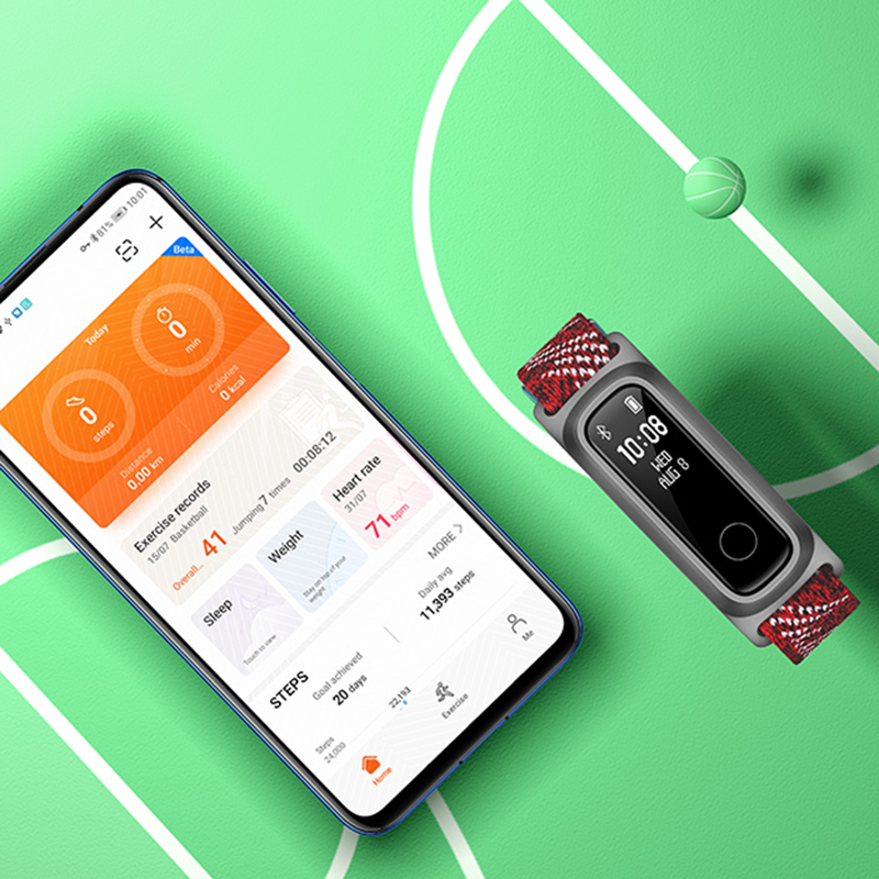 Image 4 - Huawei honor Band 5 sport edition Smart Band Dual Wrist&Footwear Mode Data Monitor Waterproof Smart Sports BraceletSmart Wristbands   -