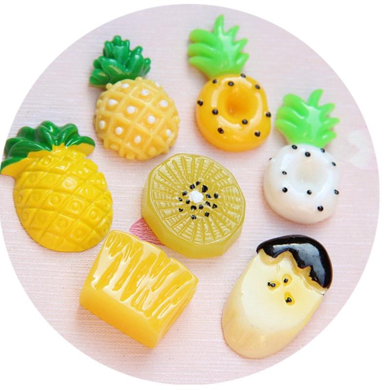Resin Scrapbook Ornament Fruit Cabochon Flatback Slime Charm