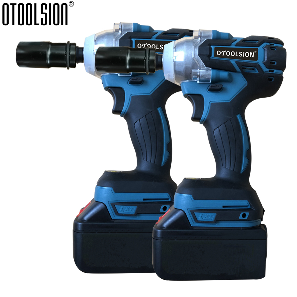 21V Brushless Motor Electric Wrench Wireless Impact Wrench Electric Tools Impact Cordless Wrench Impact Screwdriver For Car