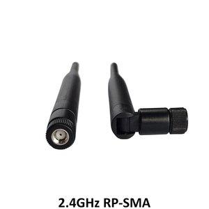 Image 4 - 5 pièces antenne 2.4 GHz wifi 5dBi WiFi antenne RP SMA mâle 2.4ghz antenne wi fi routeur + 21cm PCI U. FL IPX vers RP SMA mâle câble queue de cochon