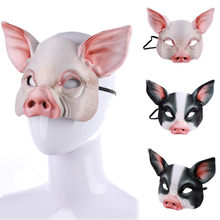 helloween mask masque carnaval Unisex Villain Costume Party Ball Halloween cosplay Mardi Gras Half Face Animal Mask funny mask(China)