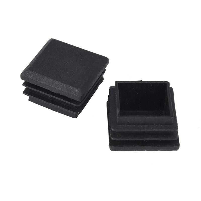 10 Pcs Black Plastic Square Tube Inserts End Blanking Cap 25mm X 25mm Promotion