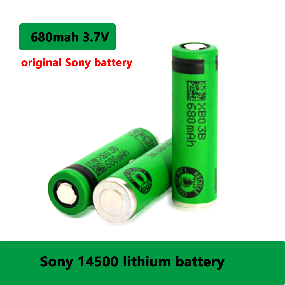 SONY Original <font><b>3.7V</b></font> 680mAh <font><b>14500</b></font> battery Lithium-ion Rechargeable Batteries <font><b>14500</b></font> lithium battery for electronic toy flashlight image
