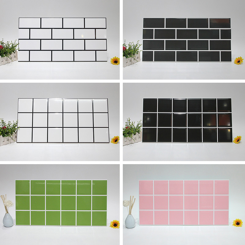 Ideal Northern European-Style Plaid Brick 300x600 Black And White Pink Bread Brick Kitchen Bathroom Light Oil Resistant