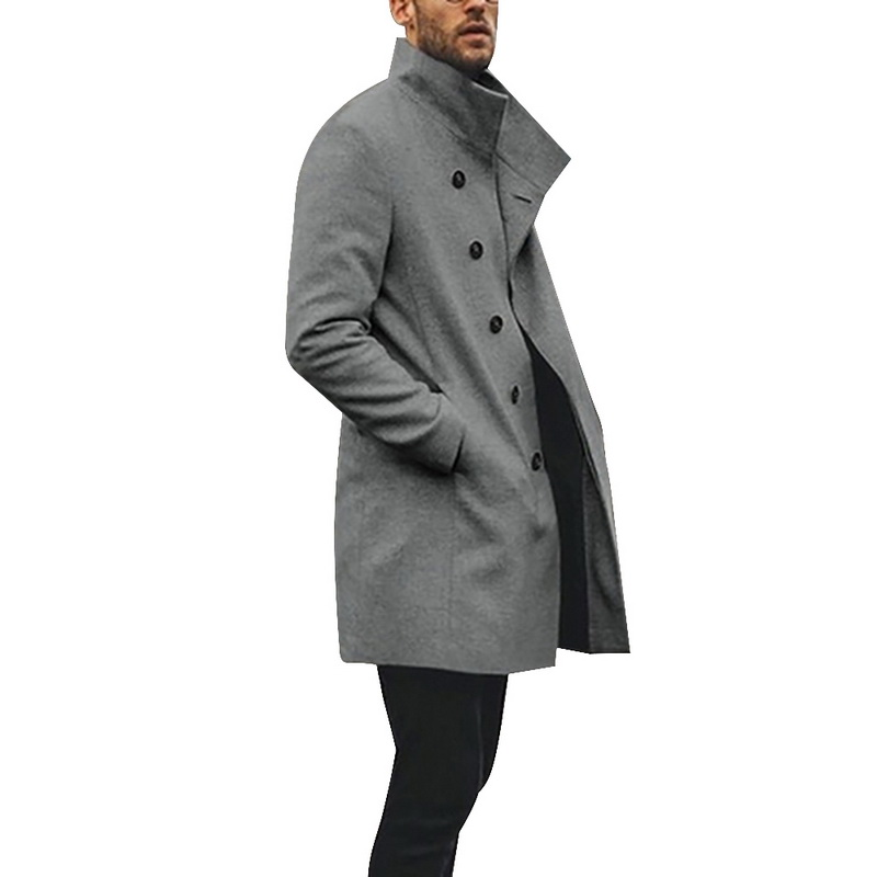 H34b532f58acb4901a410884880a24405E HEFLASHOR Mens Trench Coat 2019 Fashion Designer Long Windbreaker Autumn Winter Single Breasted Windproof Overcoat Plus Size