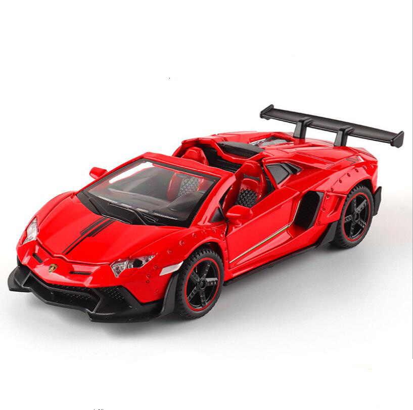 Модель автомобиля 1: 32 Aventador SVJ LamborghinILP700 спортивный автомобиль с конвертируемым сплавом, звук и светильник, игрушечный автомобиль, подарки для мальчика
