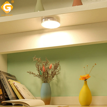 2.5W 12V LED Under Cabinet Light Puck Lamps Cupboard Closet Showcase Drawer Wardrobe Indoor Lighting Lights Fixtures