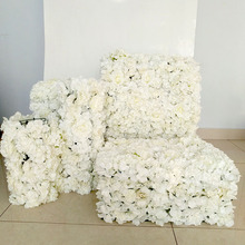 1pcs Artificial Flower Wall Wedding Background Decoration Lawn Pillar Road Lead Arch White Silk Rose Hydrangea Peony