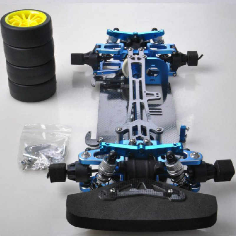 Special Price Tt01/tgs 1/10 Flat Sports Car Frame Carbon Fiber Chassis +cnc Aluminum Alloy Chassis Conversion Package