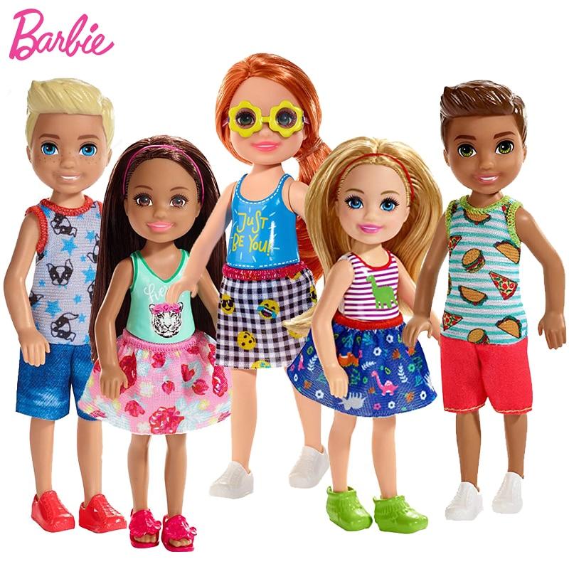 Original Barbie Puppen Club Chelsea Welpen Mini Barbie Puppen für Mädchen Zubehör Brinquedos Baby Spielzeug für Mädchen Juguetes Set
