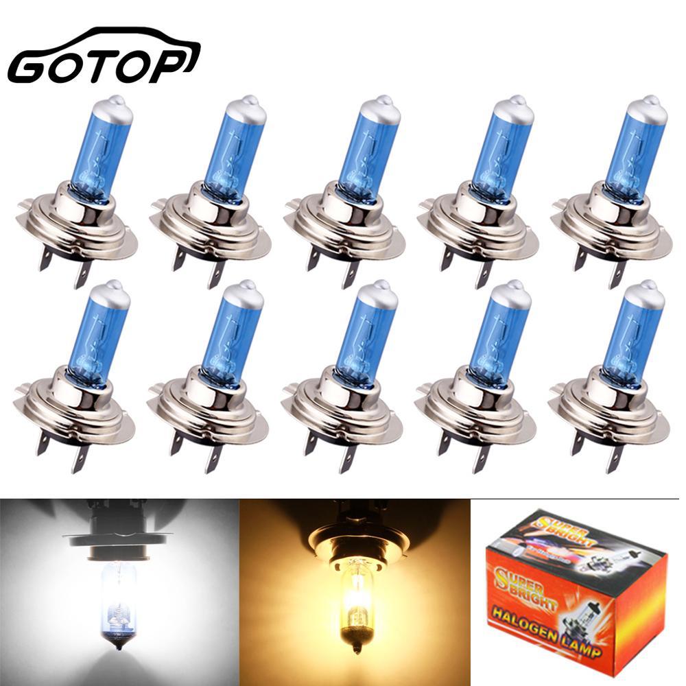 10 шт., супер яркие галогенные лампы H7, 100 Вт, 24 В