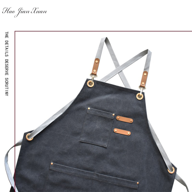 Unisex Canvas Kitchen Aprons For Home Chefs 3