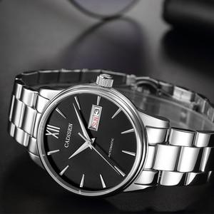 Image 3 - CADISEN גברים שעון אוטומטי מכאני ספיר יוקרה מותג 50ATM עמיד למים שעון זכר Reloj Hombre Relogio Masculino