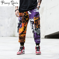 Mens Fashion Splice joggers pants Camo Cargo camouflage pants Men Camo Pants Mens Trousers US Size M XXL windbreaker pants